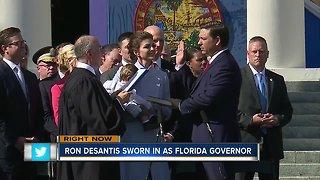 Ron DeSantis sworn in as Florida's new governor