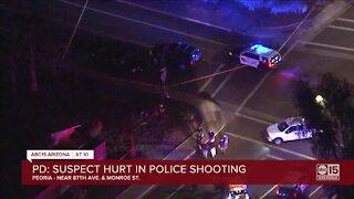 Suspect hurt in Peoria police shooting