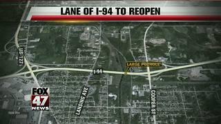 Large pothole creates I-94 lane closure in Jackson County