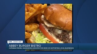 """Abbey Burgers says """"We're Open Baltimore!"""""""