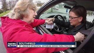 Church offers drive through prayers for Good Friday