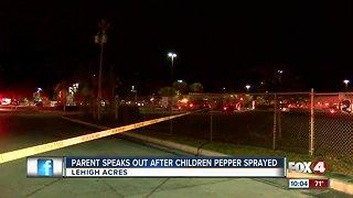 Parent speaks out after children pepper sprayed