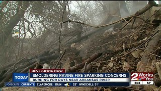 Neighbors concerned about potential fire hazard in west Tulsa