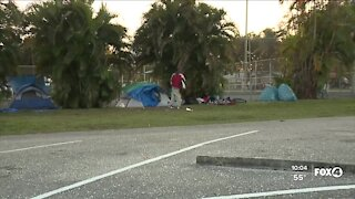 Hope in the midst of homeless at Lions Park