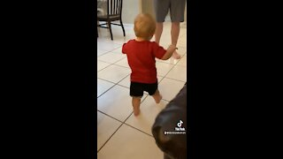 Daver takes his first steps