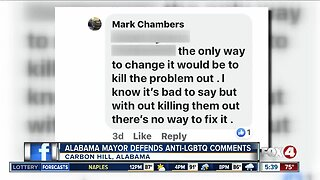 Alabama Mayor defends anti-LGBTQ comments on Facebook page