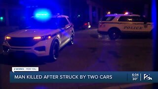 Man killed after being struck by two cars