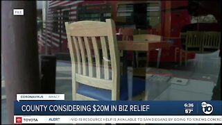 County considering $20 million in business relief
