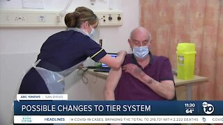 State mulls possible change to vaccination tier system