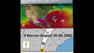 4 TROPICAL STORMS - Aug 17, 2021