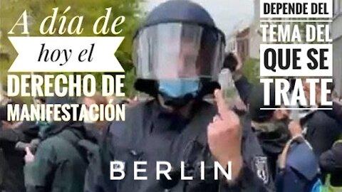 A día de hoy el derecho de manifestación en Alemania dependen del tema del que se trate