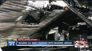 Rogers County Man Charged with Murder, Arson