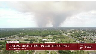 Fires burn in Collier County