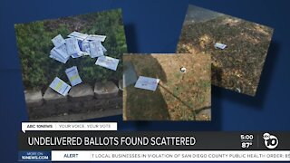 Undelivered ballots found scattered