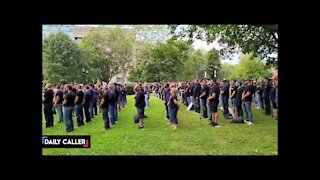 Canadian First Responders Gather In Silent Protest Over Vaccine Mandates