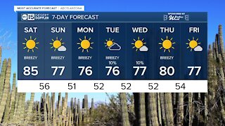 MOST ACCURATE FORECAST: Winds cranking up across Arizona