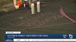 Family of Chula Vista suspicious death victim gather for vigil