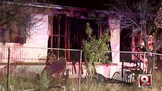 Vacant southside mobile home burns