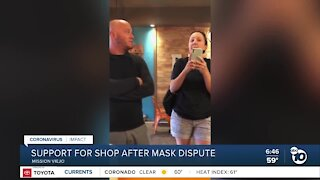 Support for Mission Viejo shop after mask dispute