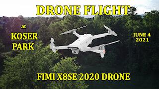 Drone Flight at Koser Park, June 4, 2021 - Fimi X8SE 2020