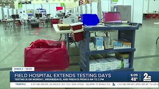 Field hospital extends testing days