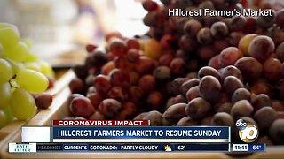 Hillcrest Farmers Market reopens April 19