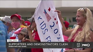 Demonstrators say President's COVID response is biggest factor in deciding their vote