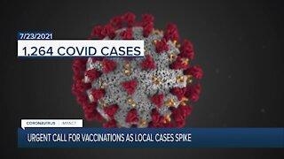 Call for vaccinations as San Diego County sees highest daily COVID-19 spike since February 2021