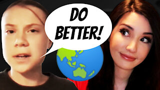 Greta Thunberg SLAMS America - Earth Day 2021 Lecture