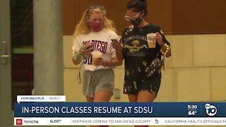 In-person classes resume at San Diego State