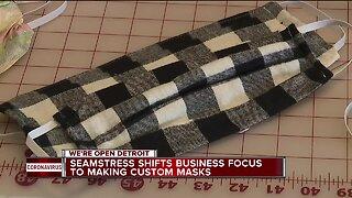 Dress designer in St. Clair Shores transitions to make face masks