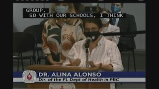 Dr. Alina Alonso speaks at Palm Beach County School Board meeting