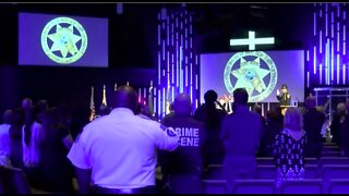 Police departments honor fallen officers