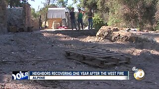 Alpine healing one year after West Fire