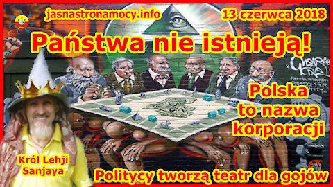 Państwa nie istnieją! Polska to nazwa korporacji! Politycy tworzą teatr dla gojów!