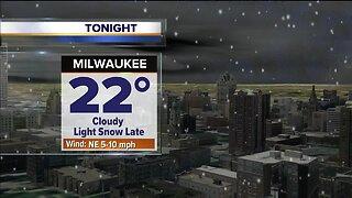 Light snow late Wednesday night into Thursday morning