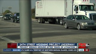 24th Street widening project breaks ground after years of litigation