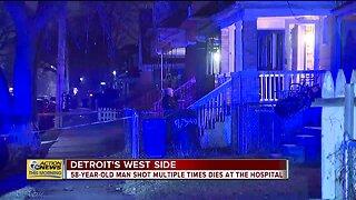 Man shot multiple times dies at hospital in Detroit