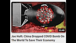 Joe Hoft: China Dropped COVID Bomb On The World To Save Their Economy