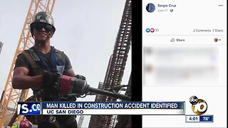 Construction worker killed at UCSD identified