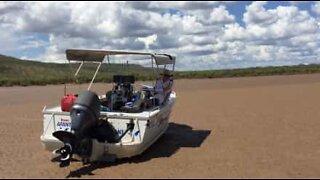 Kalastajat jäivät jumiin krokotiilien ympäröiminä Australiassa