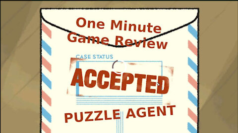Puzzle Agent One Minute Game Review