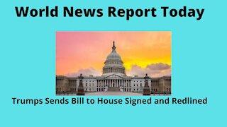 "Trump Makes Demands on Bill and Redlines ""Pork"""