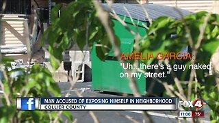 Man accused of exposing himself in Naples Neighborhood