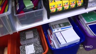 Annual Stuff the Bus campaign, collecting donations of school supplies
