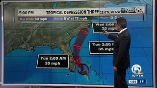 Tropical Depression 3 forms off of Florida