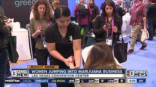 Women jumping into marijuana business