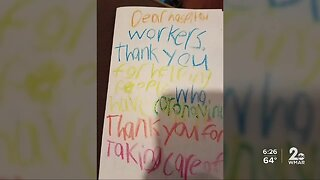 Virtual thank you cards, notes for the staff at the University of Maryland Medical Center