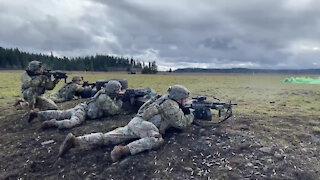 Braves Company Execute Live Fire Training