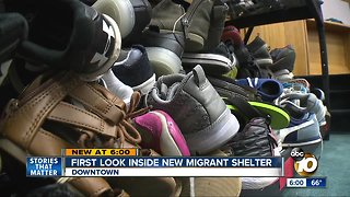 First look inside new downtown migrant shelter